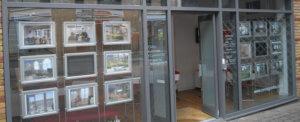 estate agent in birmingham city centre shop exterior
